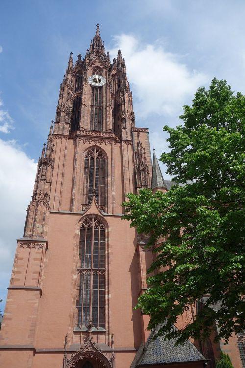 Frankfurtas,Dom,Hesse,lankytinos vietos,architektūra,Vokietija,bokštas,miestas,kaiser dom,ffm,orientyras