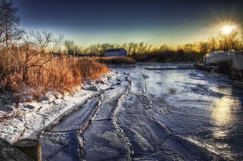 Sušaldyta, Žiema, Ledas, Šaltas, Užšaldymas, Sniegas, Gamta, Kraštovaizdis, Ledinis, Ledinis, Saulėlydis