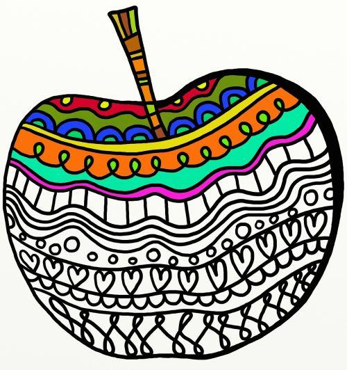 vaisiai,maistas,obuolys,žalias,sveikas,šviežias,šviežias vaisius,šviežias maistas,liaudies menas,modelis,doodle,menas,meno,dizainas