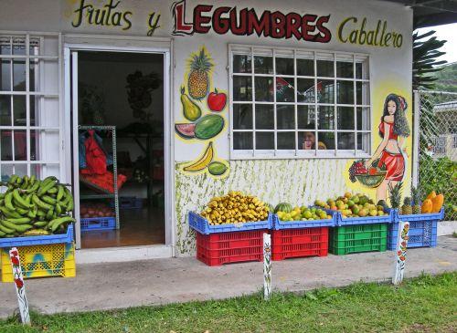vaisiai, daržovės, laikyti, bananai, papajos, mangas, ananasai, citrinos, panama, boquete, vaisiai & amp, daržovės pardavimui