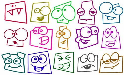 fonas, apdaila, ornamentu, spalva, kūrybingas, modelis, veidai, juokinga, Juokingi veidai