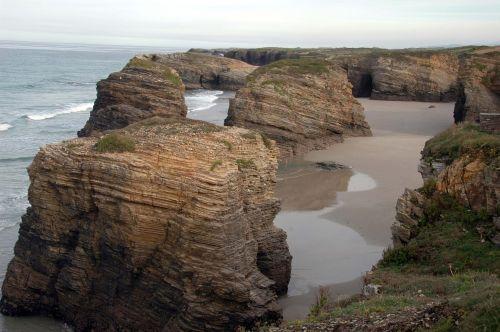 Galicia,katedrų paplūdimys,ribadeo
