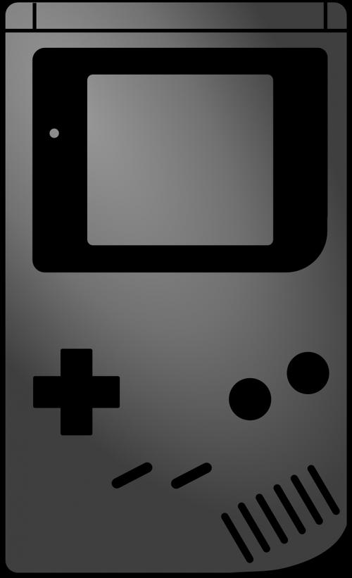 gameboy,Nintendo,video žaidimas,kompiuterinis žaidimas,delninis,nemokama vektorinė grafika