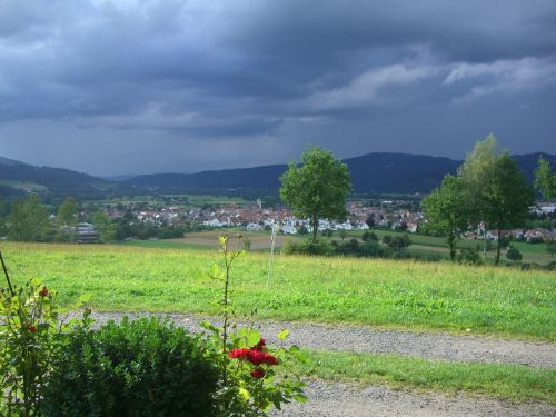 gamis,gewitterstimmung,Kirchzarten,Juodasis miškas