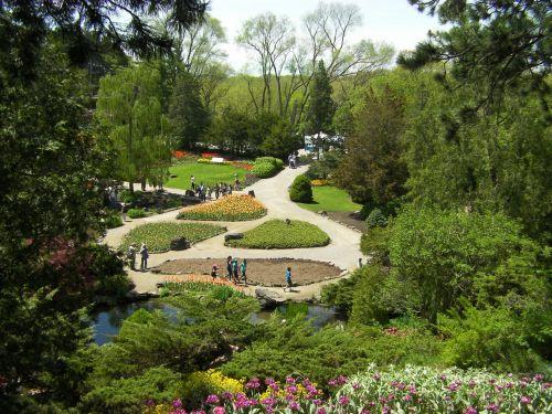 sodai,gėlės,žalias,botanikos,Burlingtonas,botanikos sodas,natūralus