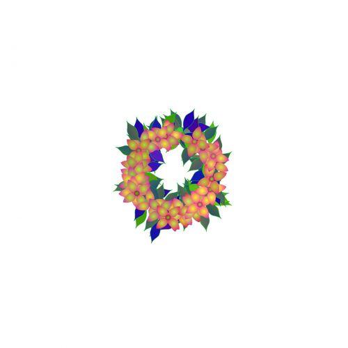 spalvos, gėlės, lapai, piešimas, vainikas, skrynia, lynai, maidenhead, girlianda, eilutė, girliando piešimas