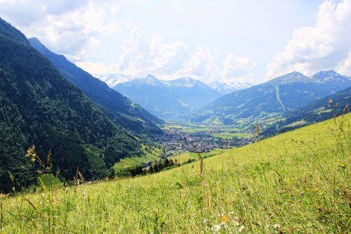 Dušanto slėnis,kalnai,alm,pieva,slėnis,gastein,Alpių pieva,gėlės,dangus,šventė,austria