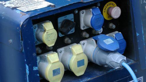 generatorius, generatoriai, kištukas, kištukai, lizdai, lizdas, elektrinis, elektrinis, elektra, nešiojamas, perkeliamumas, generatorius kištukas ir lizdai