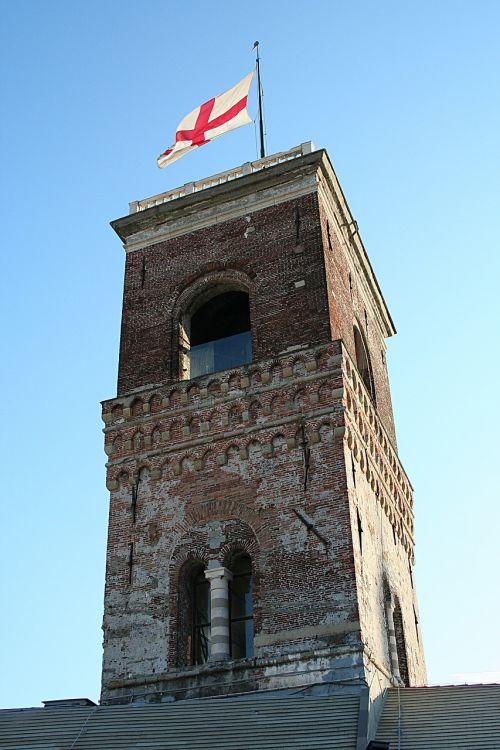 genoa,Palazzo ducale,Torre,kalėjimas,istorinis centras,italy,miestas,vėliava