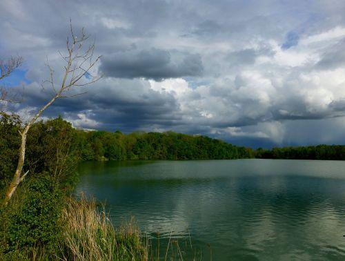 gewitterstimmung,ežeras,debesys,dramatiškas dangus,kraštovaizdis