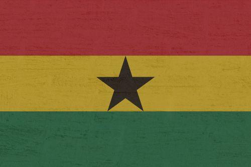 Gana,vėliava,Vakarų Afrika,tarptautinis