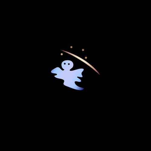 vaiduoklis,naktis,naktinis dangus,mažas,saldus,istorijos,vaiduoklis,šablonas,elementas,Žvaigždėtas dangus,mielas,mėlynas,skristi,skraidantis vaiduoklis,pilies spook