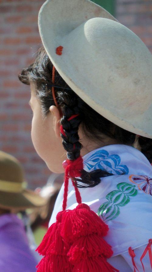 mergaitė,skrybėlę,vakarėlis,Bolivija,Bolivija