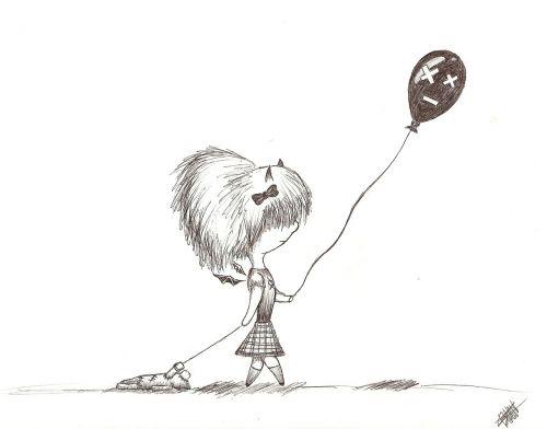 mergaitė,vaikščioti,balionas,vaikas,žaisti,meno kūriniai,piešimas,rašalas,rašiklis,rašiklio piešimas,rašalo piešimas,kūrybingas