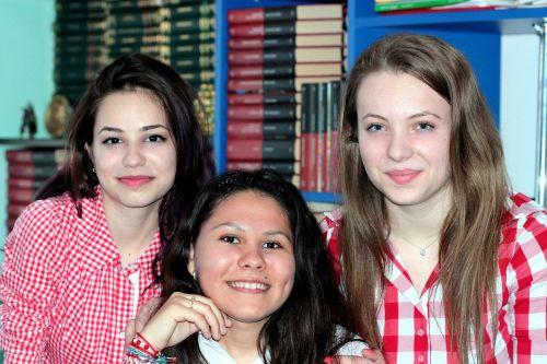 mergaitės,bičiulis,moksleiviai,Draugystė,šypsena,grožis