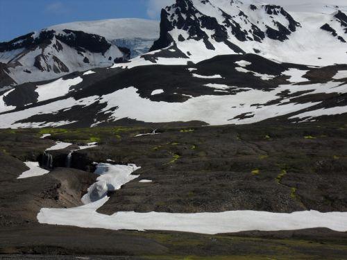 ledynas,saulėtas,ledas,iceland,snieguotas