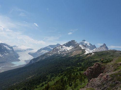 ledynas,Kanada,uolingas,kraštovaizdis,uolėti kalnai,dangus,sniegas,piko,vasara,žygiai,vaizdingas,dramatiškas,kalnas,gamta,nuotykis