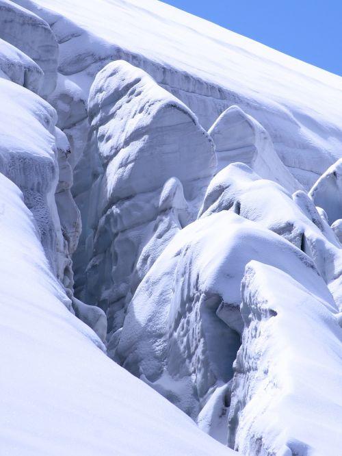 Ledynas, Ledas, Gamta, Ledas, Amžinas Ledas, Nuotaika, Žiema, Sušaldyta, Crevasse, Šveicarija, Šaltas, Kalnas, Sniegas, Žiemą, Balta, Šaltis