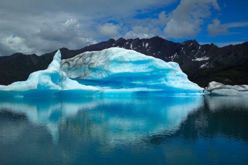 ledkalnis, ledynas, jūros dugnas, vandenynas, jūra, vanduo, ledas, sniegas, tapetai, fonas, viešasis & nbsp, domenas, kraštovaizdis, kenai & nbsp, fjordai & nbsp, nacionalinis & nbsp, parkas, alaska, usa, atspindys, kalnai, debesys, dykuma, ledinis ledkalnis