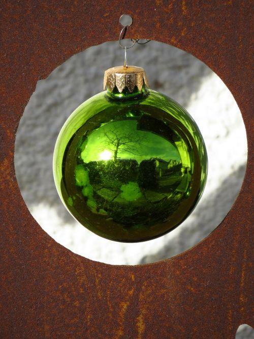 stiklo rutulys,spindesys,žalias,priklausyti,rutulys,weihnachstkugel,Kalėdų laikas