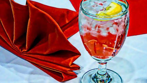 vanduo, citrina, stalas, servetė, pietauti, restoranas, ledo & nbsp, kubeliai, atsipalaidavimas, gerti, vasara, gerti, citrinos, sveikata, hidratacija, ledinis vanduo