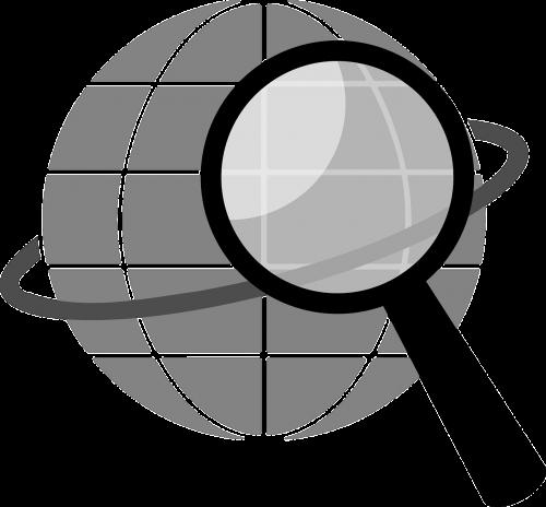 gaublys,planeta,Paieška,lupa,padidinamasis stiklas,didina,nemokama vektorinė grafika