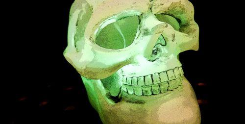 žalias, kaukolė, erdvė, juoda, neigiamas, baugus, Halloween, veidas, kaulai, švytėjimas, žėrintis, apšviestas, kvietimas, skrajutė, vakarėlis, dekoruoti, apdaila, žėrintis žalia kaukolė