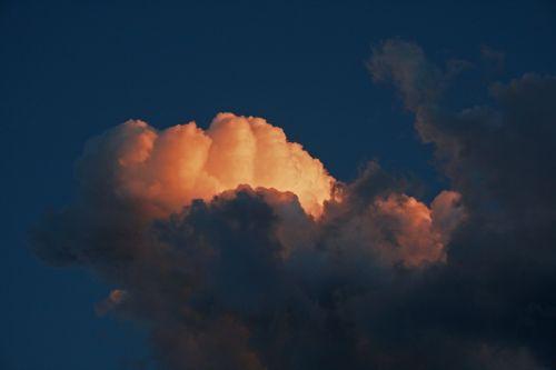 debesis, saulėlydis, švytėjimas, rozis, šviesa, dusk, vakaras, dangus, žėrintis šviesą apšviesiantis debesis