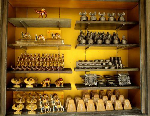 auksas, rinkimas, objektas, aukso & nbsp, baras, lentynos, žaislai, auksas