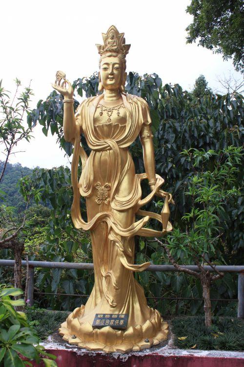 auksinė & nbsp, buda, auksinis, buda, auksas, deivė, statula, tikėjimas, auksinė buda