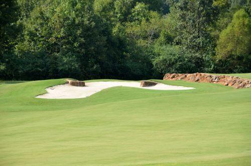 golfas, žalias, laisvalaikis, linksma, žinoma, žolė, poilsis, įdėti, išėjimas į pensiją, sportuoti, kraštovaizdis, smėlis & nbsp, spąstus, golfo laukas
