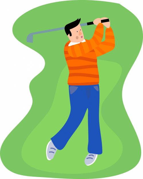 Iliustracijos, clip & nbsp, menas, grafika, iliustracija, Sportas, žaidimai, poilsis, laisvalaikis, aktyvus, veikla, fitnesas, vyras, Patinas, asmuo, žmonės, žaisti, žaidėjas, golfas, golfo žaidėjas, sūpynės, golfo žaidėjas