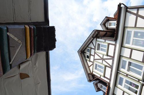 Goslar,fachwerkhaus,mažas kampas