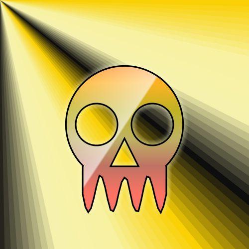 kaukolė, piešimas, gradientas, menas, tapetai, spalva, apdaila, miręs, žmogus, los & nbsp, muertos, dizainas, gradiento kaukolė