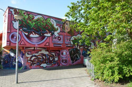 jaunimas & nbsp, centras, jaunimas, grafiti, Amsterdamas, Nyderlandai, graffiti