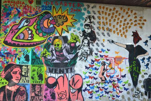 Grafiti, Vent, Grunge, Miesto, Siena, Spalva, Kultūra, Purkšti, Chaosas, Pistoletas, Grafiti, Gatvė, Vandalizuoti, Fjeras, Belgrade