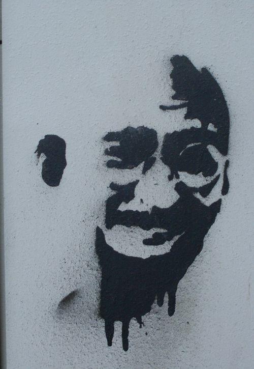 grafiti,gandhi,purkšti,maitinimo blokas,veidas