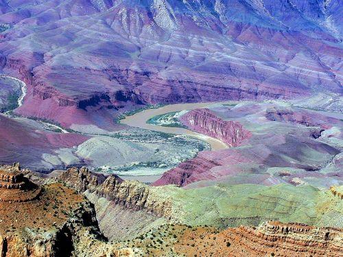 Didysis kanjonas,upė,spalado upė,Colorado,Gorge,serpentinas