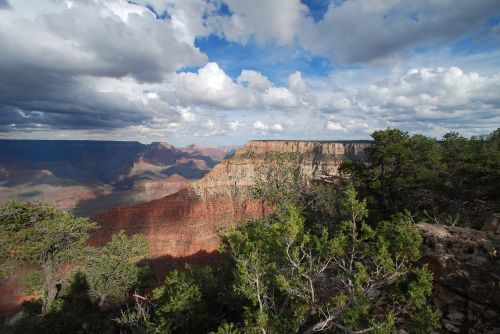 Didysis Kanjonas Vista, Didysis Kanjonas, Kanjonas, Arizona, Parkas, Audringas Dangus, Plato, Pritraukimas, Žinomas, Vaizdingas, Pietų Kraštas, Uolos, Peizažas, Usa, Kraštovaizdis, Gamta, Amerikietis, Nacionalinis Parkas