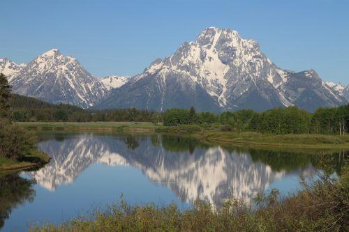 didieji tetonai,Nacionalinis parkas,Vajomingas,kalnas,Nacionalinis parkas,mėlynas,diapazonas,vanduo,kraštovaizdis,gamta,tetonas,grand,parkas,nacionalinis,kelionė,dangus,sniegas,piko,vaizdingas,turizmas,vasara,usa