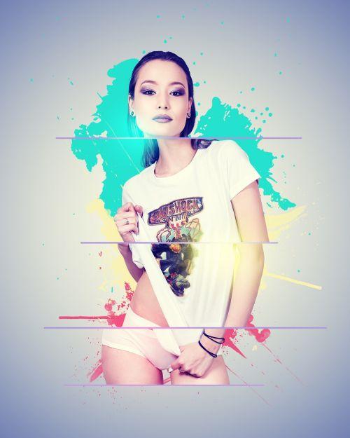Grafinis dizainas,moteris,pixelsofshae,bioshock,mielas,asian,suaugęs,dažyti skalauti,abstraktus,mergaitė