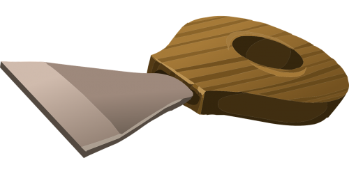 Teretė,skreperis,įrankis,virtuvė,mediena,metalas,Paruošimas,valymas,aštrus,nemokama vektorinė grafika