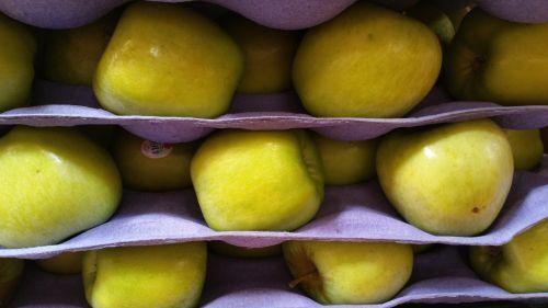 obuoliai, žalias, pardavimas, krūva, žali obuoliai