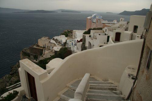 Graikija, santorini, vandenynas, salos, kalnų salos Santorini salos