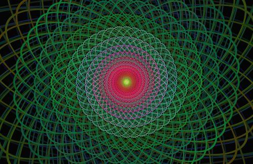 žalias,fraktalas,viela,elipsė,kreivė,ornamentas,fonas,sukurtas kompiuteriu,skaitmeninis,menas