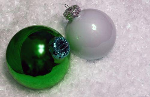 Kalėdos, fonas, papuošalai, Uždaryti, žalias, balta, izoliuotas, erdvė, sniegas, žalios ir baltos Kalėdos