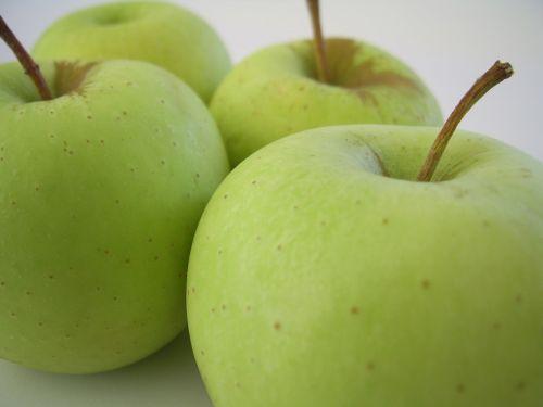 žalias, obuoliai, sveikata, vaisiai, žali obuoliai