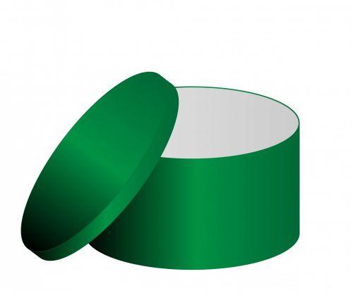 dėžė, žalias, dangtelis, dovana & nbsp, dėžutė & nbsp, saugykla & nbsp, kartonas, menas, iliustracija, izoliuotas, balta, fonas, Laisvas, viešasis & nbsp, domenas, žalia dėžutė