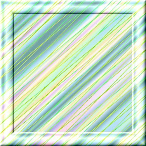 rėmas, 3d, stiklas, žalias, įstrižainė, juostelės, poveikis, žalia įstrižainė rėmas
