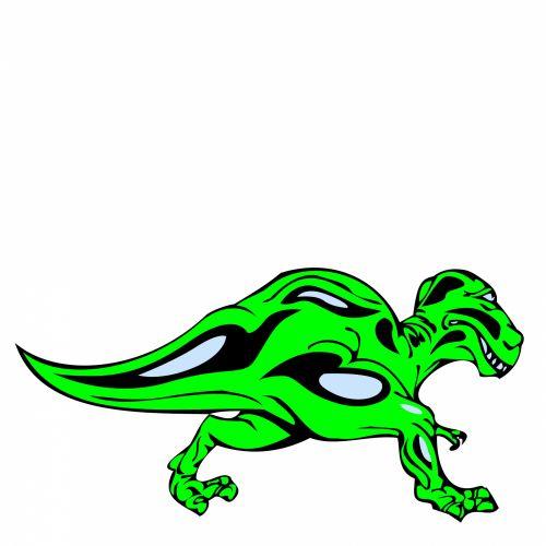 žalias, dino, dinozauras, piešimas, izoliuotas, balta, antžeminis, ropliai, mezozoic, fonas, žalia dinozauras 2
